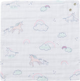 Bamboo Muslin Bandana Bib - Happy Unicorn