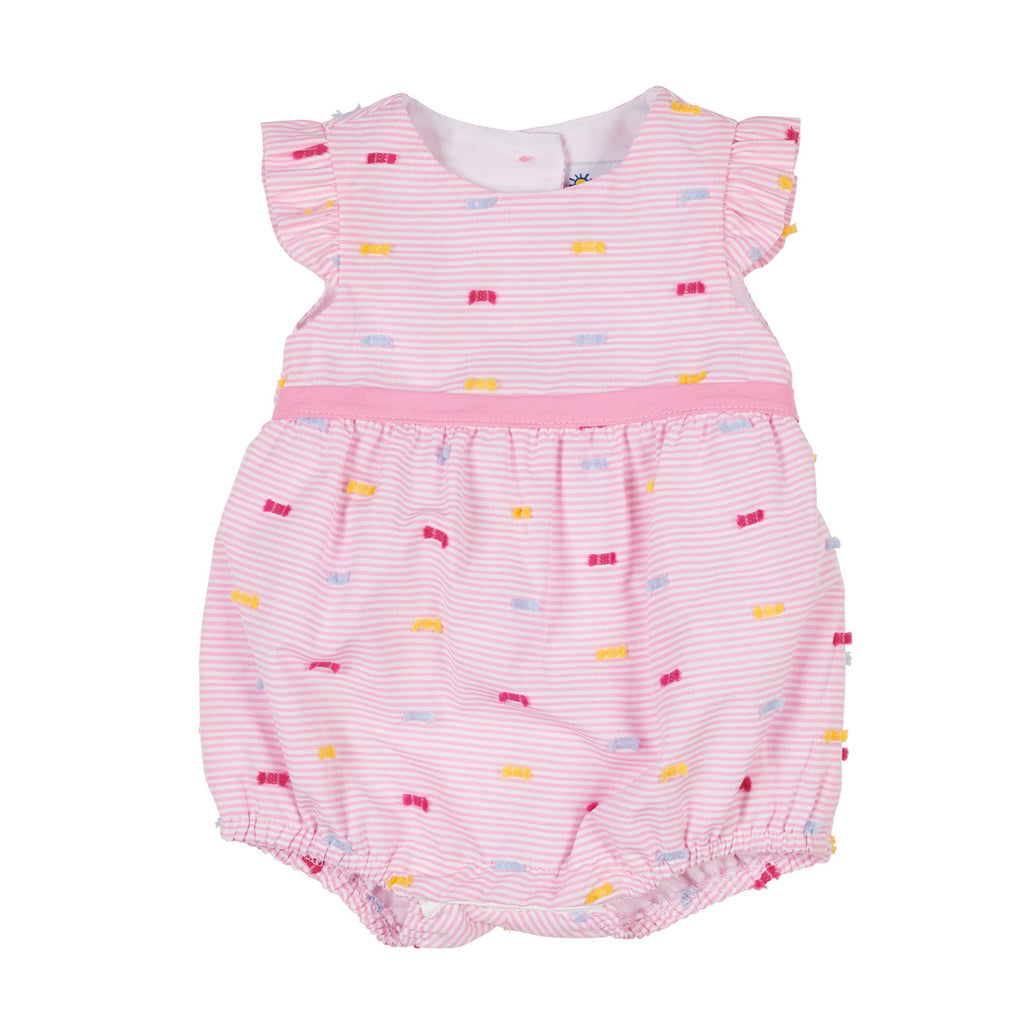Baby Girls Pink Stripe Romper with Fringes