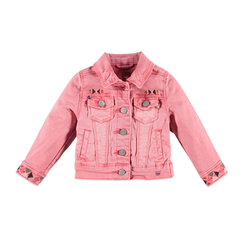 Girls Pink Denim Jacket