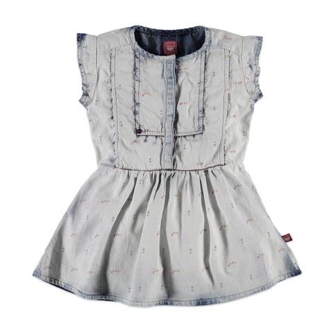 Girls Stenson Wash Denim Dress