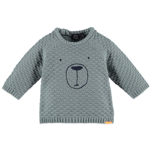 Baby Boys Steel Green Pullover