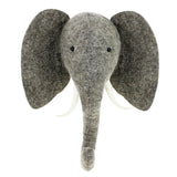 New Elephant Head Wall Mount With Trunk Up