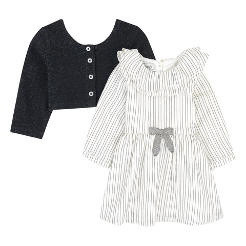 Girls 2 in 1 Cardigan Dress Set