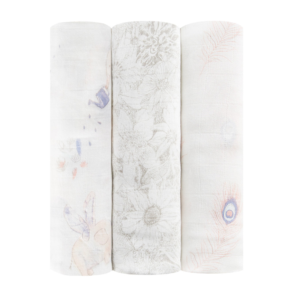3-Pack Silk Soft Swaddles - Featherlight