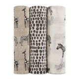 3-Pack Silk Soft Swaddles - Sahara Motif