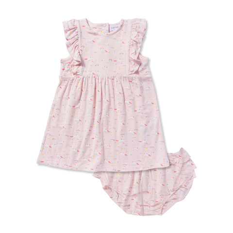 Unicorn Dress + Bloomer Set