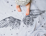 Organic Cotton Swaddle Blanket - Angel Wings