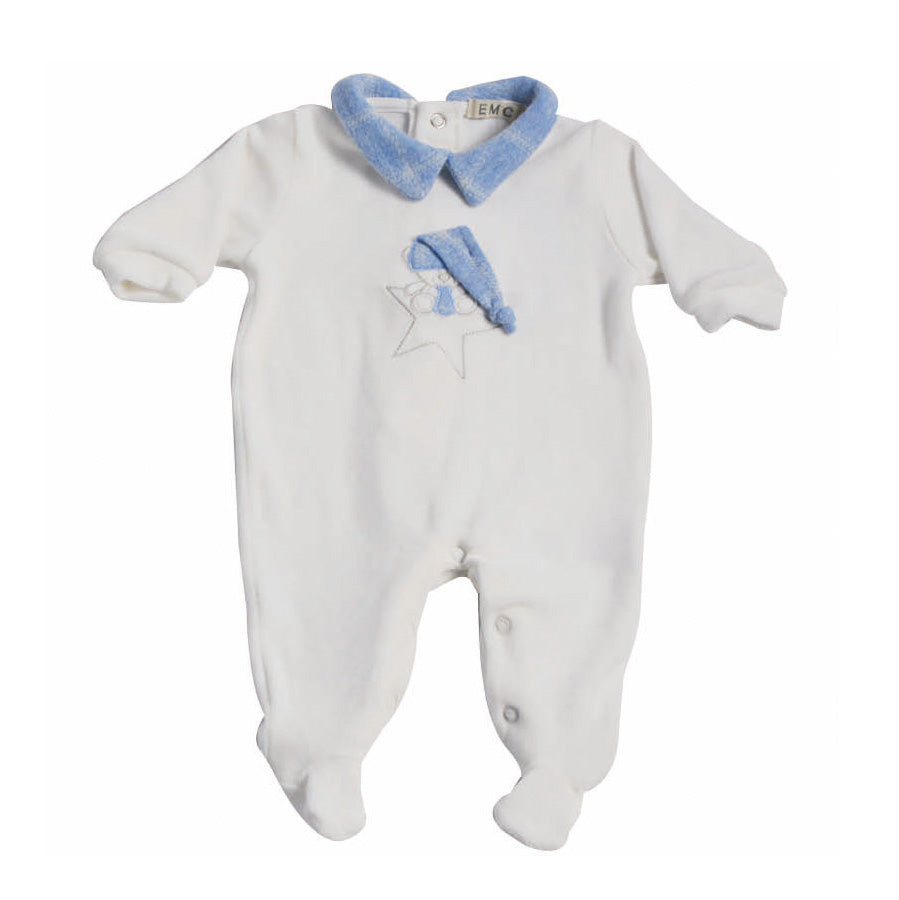 Baby Bear Knit Velour Coverall