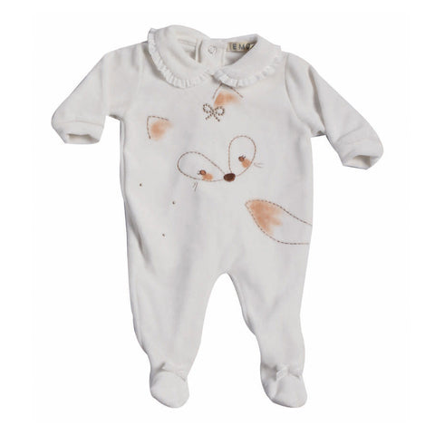 Baby Fox Knit Velour Coverall