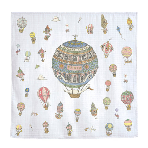 GOTS Certified Organic Swaddle - Hot Air Balloon
