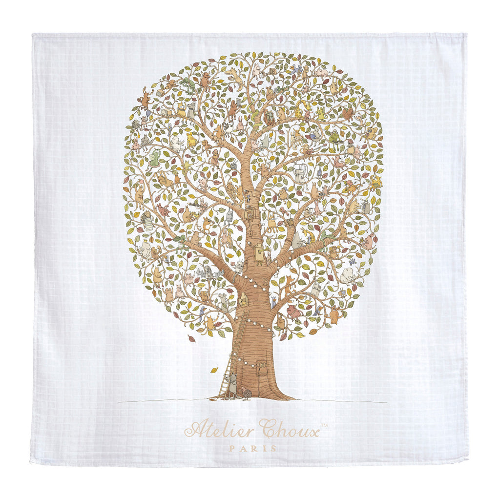 GOTS Certified Organic Swaddle - Friends & Family Tree