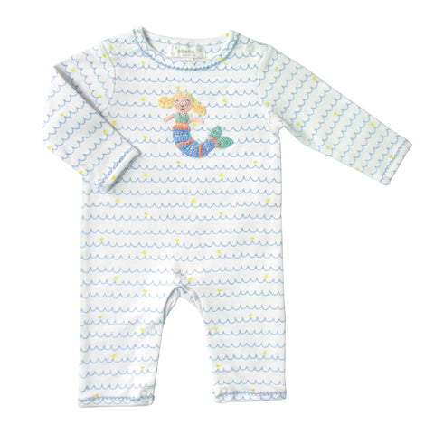 Baby Girls Crochet Mermaid Onesie