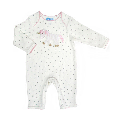 Baby Girls Crochet Unicorn Onesie