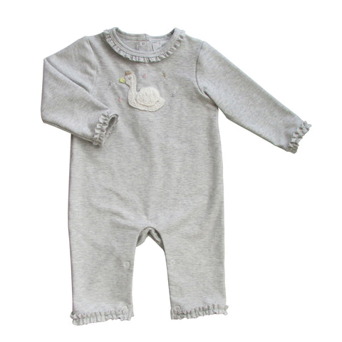 Baby Girls Crochet Swan Onesie