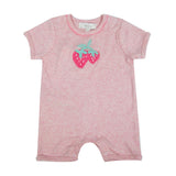 Baby Girls Crochet Strawberry Romper