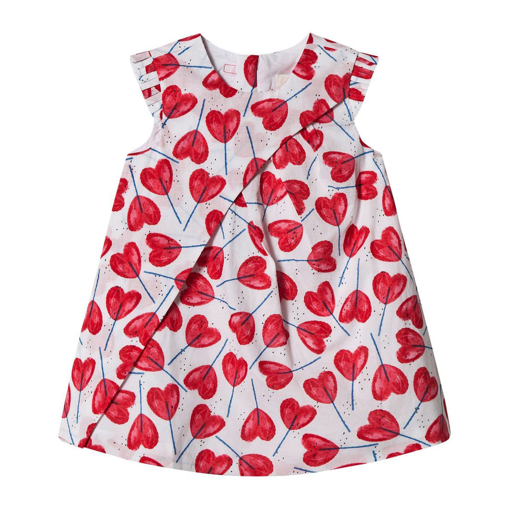 Hearts Print Percale Dress