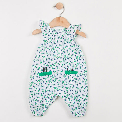 Baby Girl Printed Linen/Cotton Jumpsuit