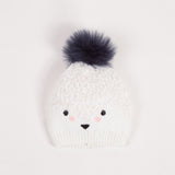 Baby Fluffy Knitted Hat with Pompom