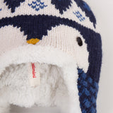 Padded Jacquard Knit Hat