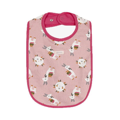 Baby Girls Reversible Llama Printed Bib