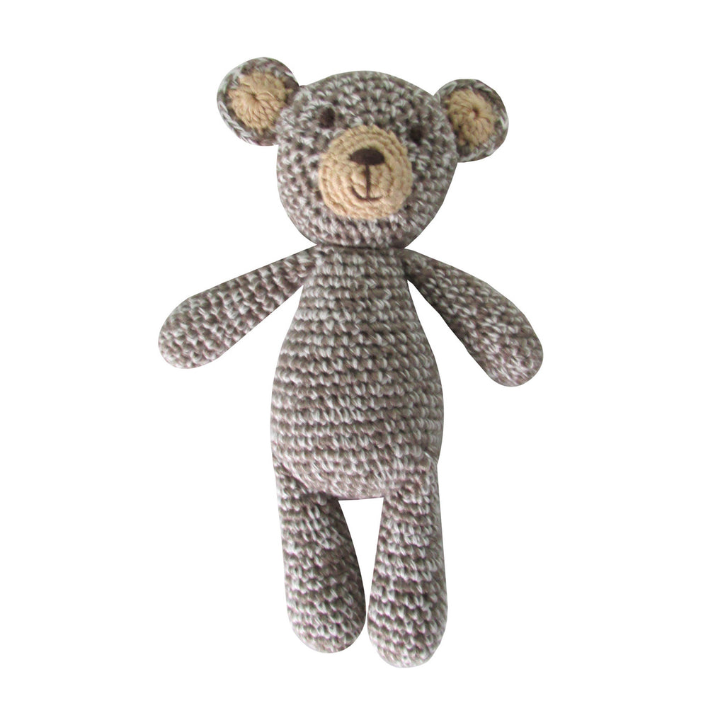 Crochet Bear Rattle Toy