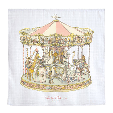 GOTS Certified Organic Swaddle - Carousel