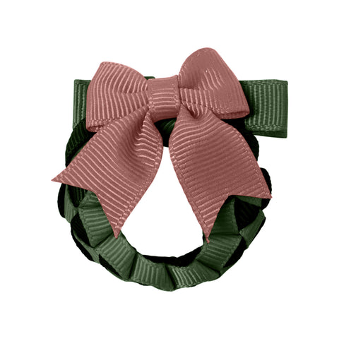 Christmas Wreath Hair Clip - Pink