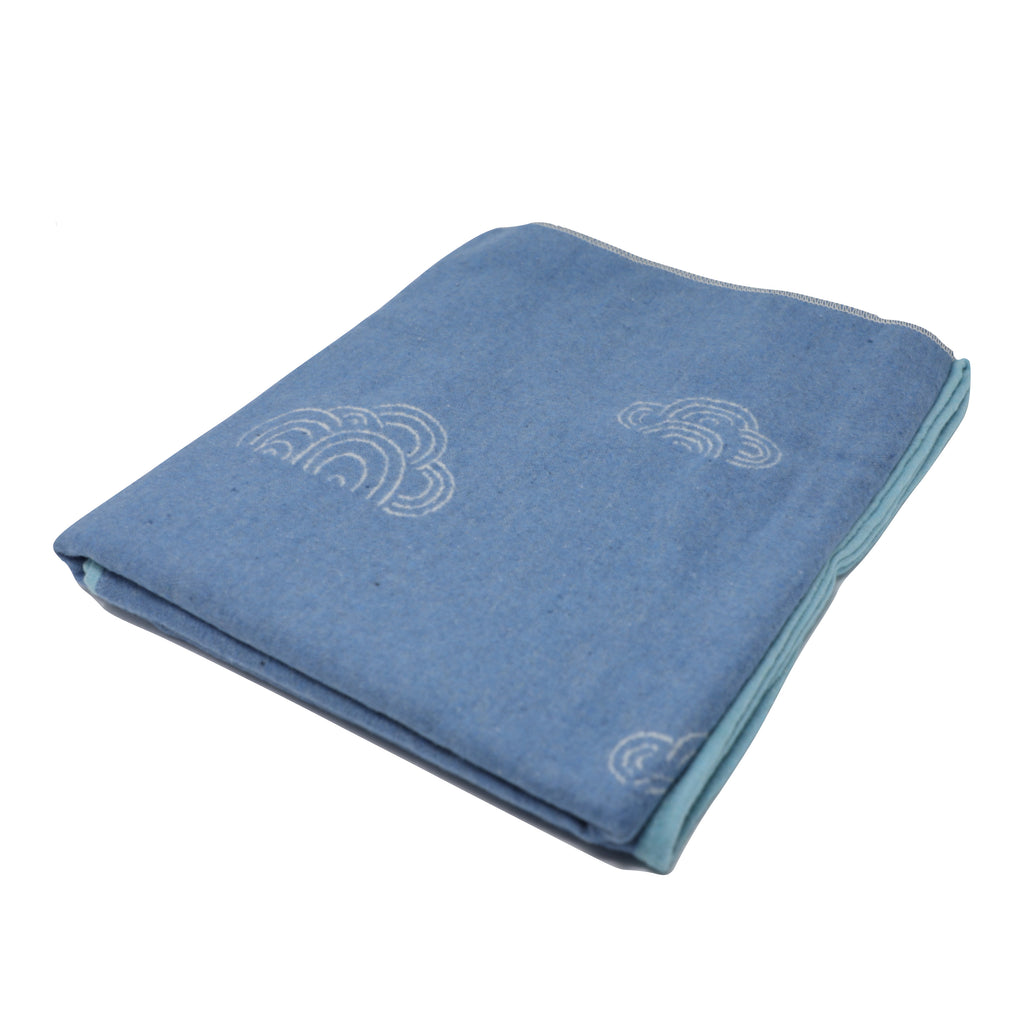 Eco Kids Blue Counting Sheep Blanket