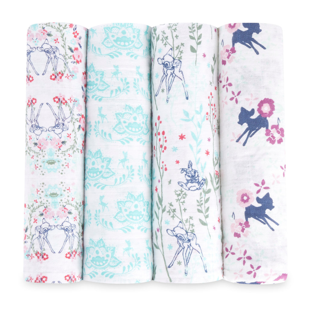 Disney Classic Swaddles 4 Pack - Bambi