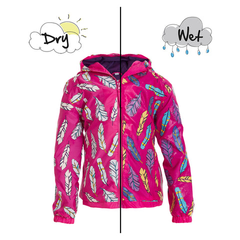 Feather Colour Changing Raincoat