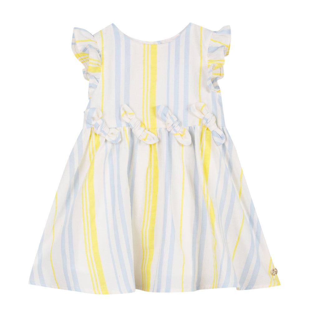 Girls Yellow Striped Dress