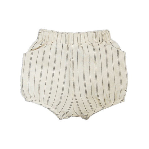 Stripe Woven Short - Natural Hemp Stripe