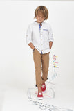 Boys Stripe Print Shirt