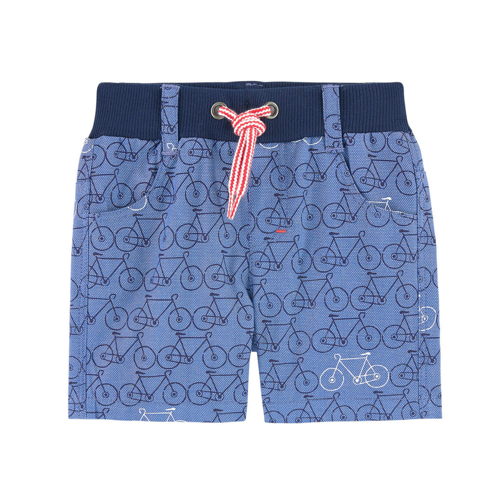 Baby Boys Bicycle Print Oxford Shorts