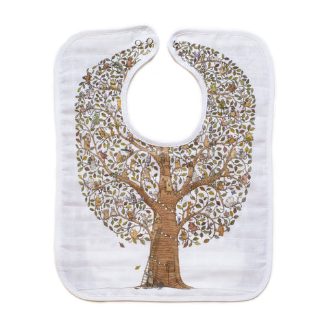 GOTS Certified Organic Large Bib - Friends & Family Tree