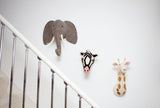 Girl Giraffe Head Wall Mount ( Semi Size)