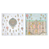 Organic Mini Swaddles Gift Set - Hot Air Balloons+Monceau Mansion