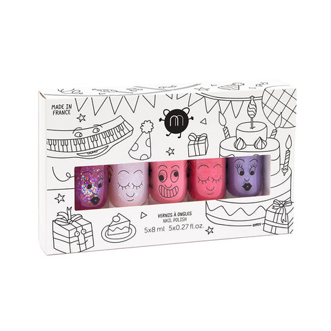 Party - 5 Nail Polish Set