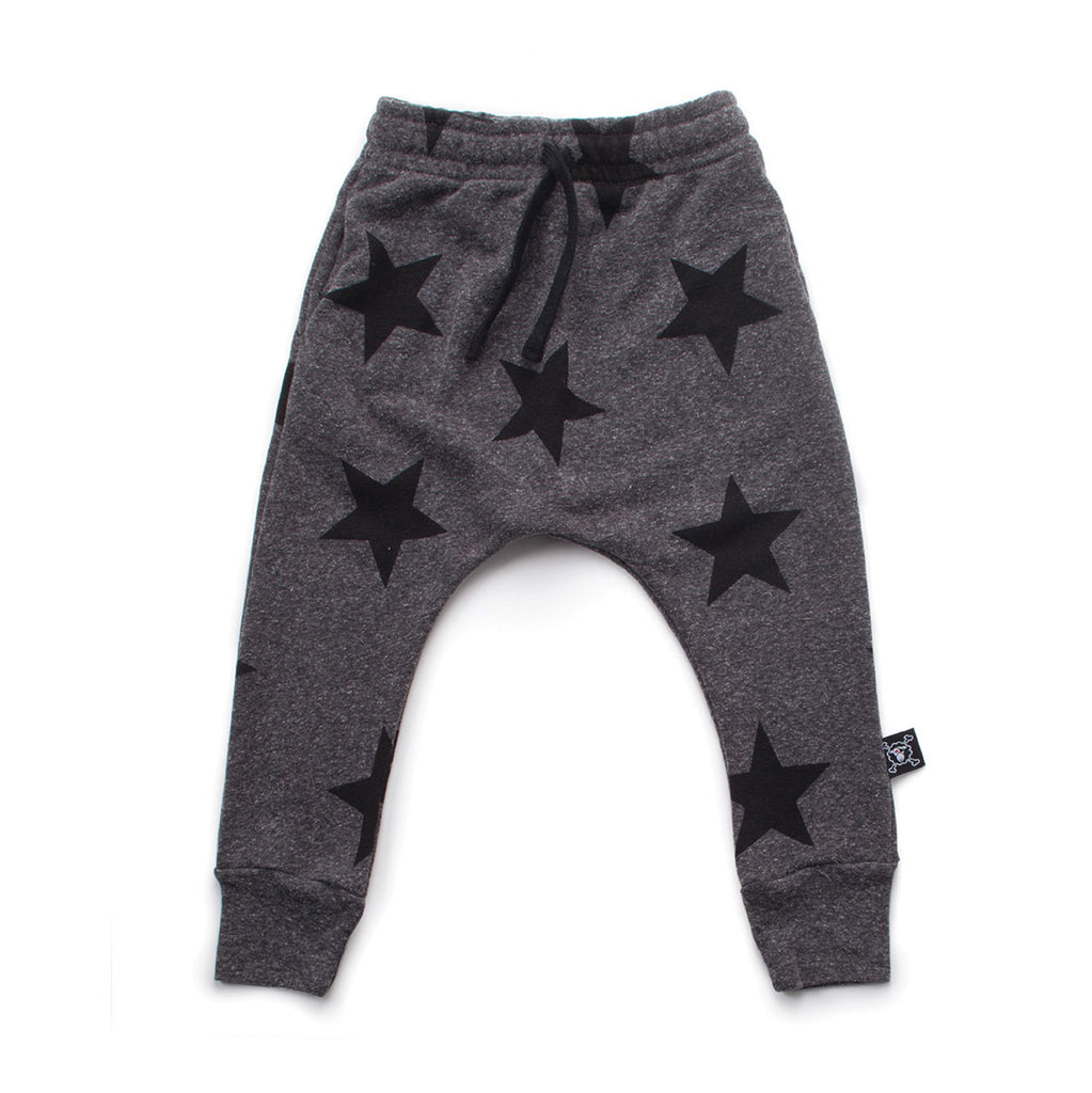 Charcoal Star Baggy Pants