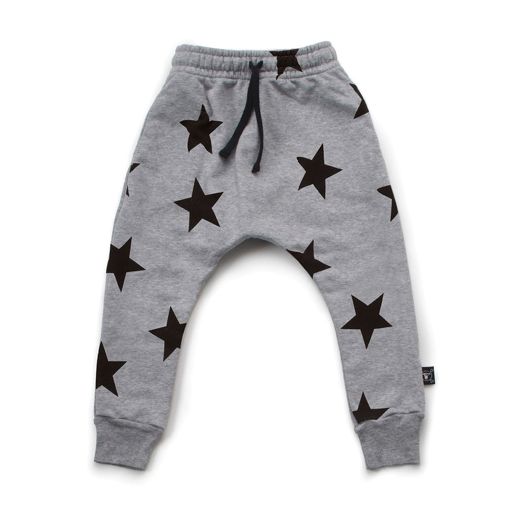 Heather Grey Star Baggy Pants