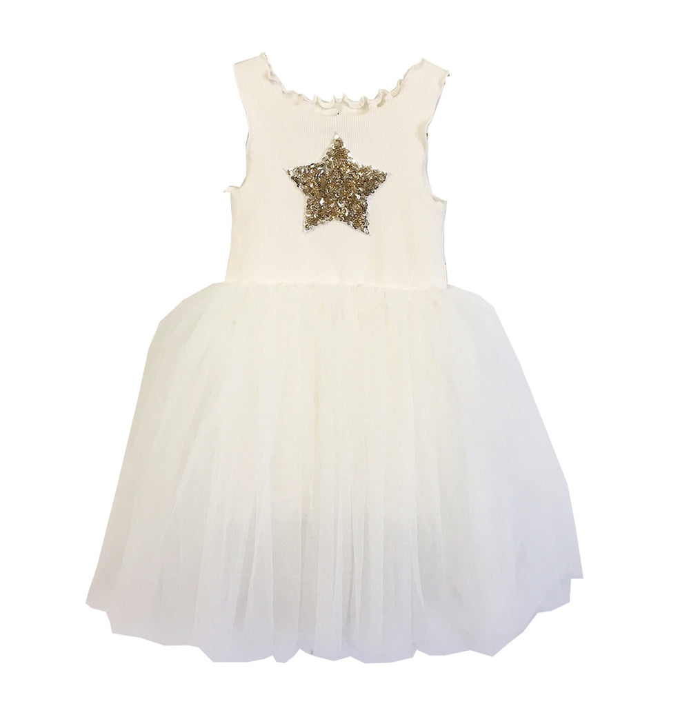Girls Tutu Dress - Ivory