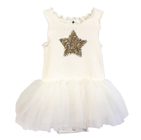 Baby Girls Tutu Dress- Ivory