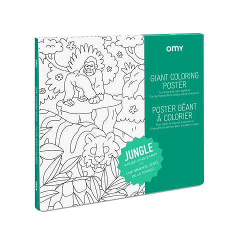 Large Coloring Poster - Jungle