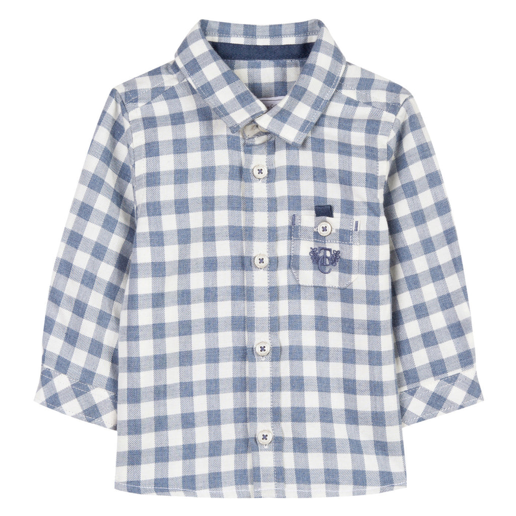 Cornflower Gingham Shirt