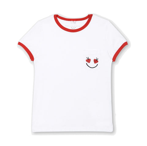 Girls Smiley Pocket Tee