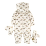 Ivory Patterned hooded Coverall