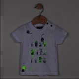 Glow-in-the-Dark Botanical Design T-Shirt