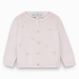 Baby Girls Pale Pink Dragonfly Cardigan
