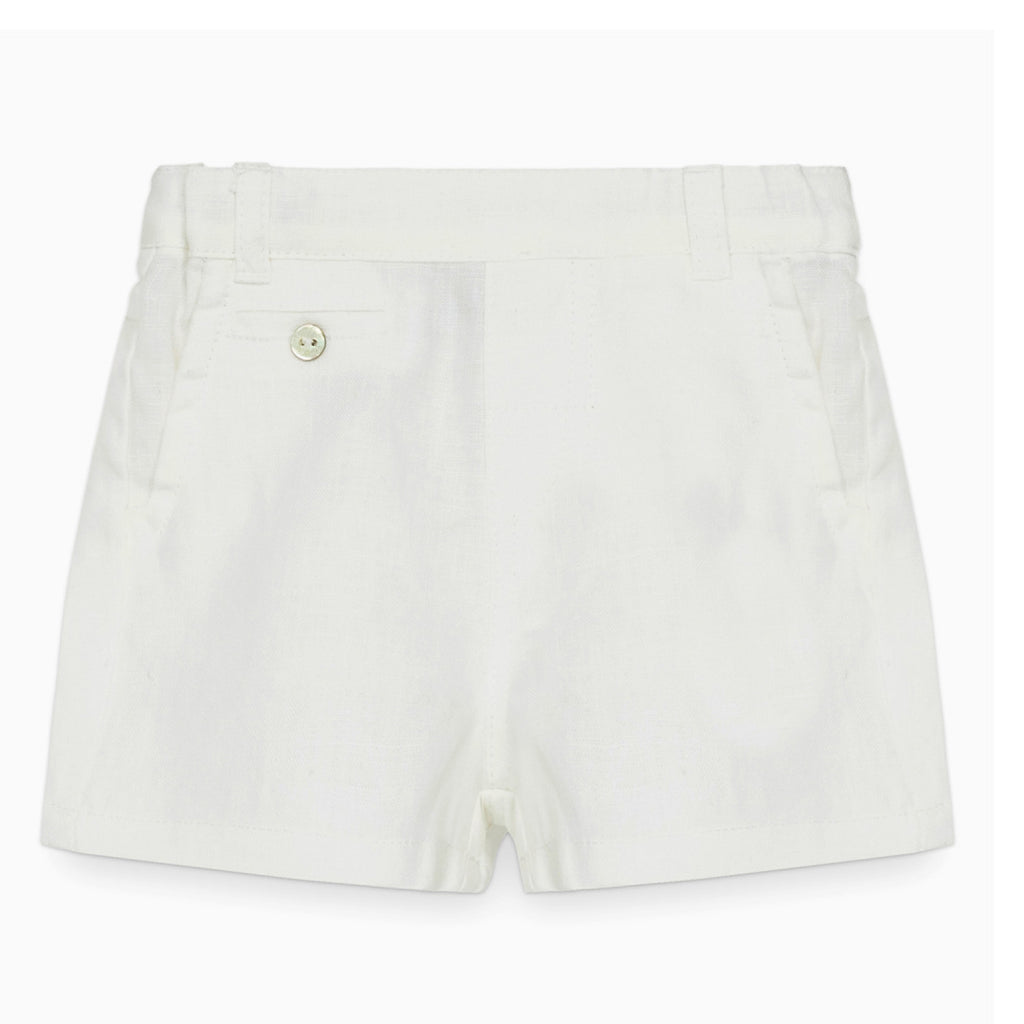 Boys Formal White Shorts