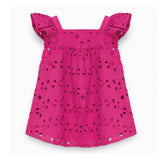Baby Girls Fuchsia Broderie Anglaise Dress